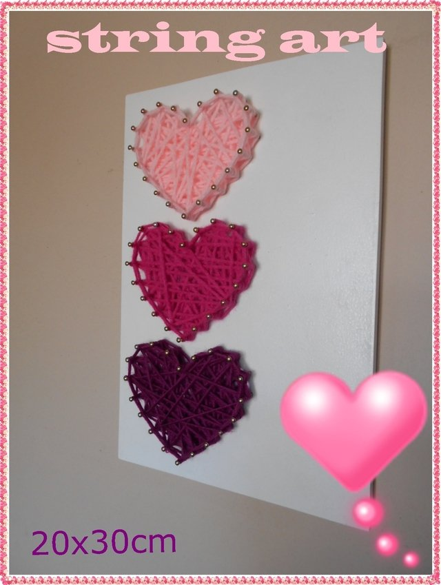 SET X 10 TABLITAS para string art CORAZONES 20x30 en internet