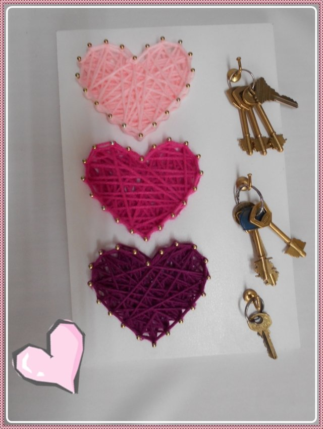 SET X 10 TABLITAS para string art CORAZONES 20x30