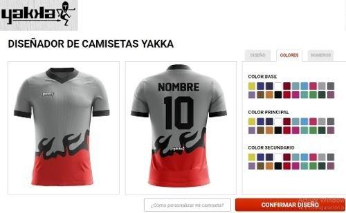 Camiseta Yakka Diseña Pedido Futbol Nombre Numerada Pack 11 f2a555d5fe79e