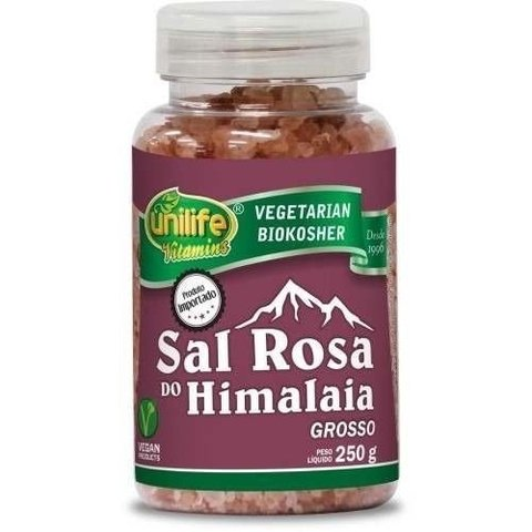 Sal Rosa Do Himalaia Grosso 250g Unilife
