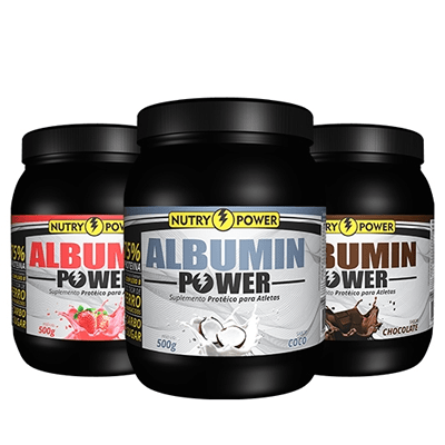 Albumin Power + Complexo B 500mg Sabor Chocolate Nutry Power