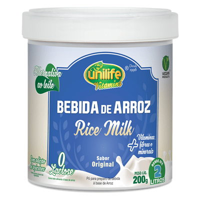 Bebida de Arroz Rice Milk 200g Unilife