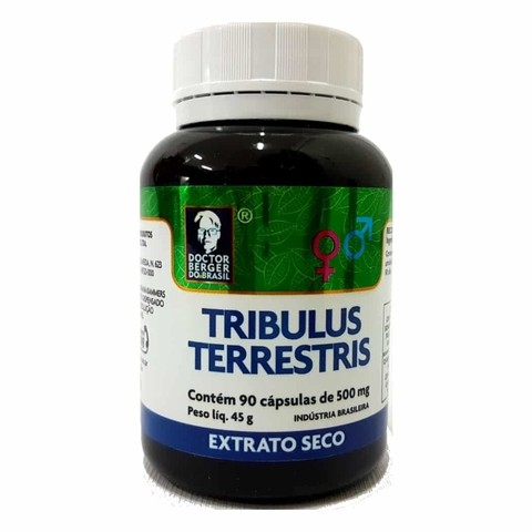 Tribulus Terrestris Extrato Seco 90 Cápsulas 500mg Doctor Berger do Brasil