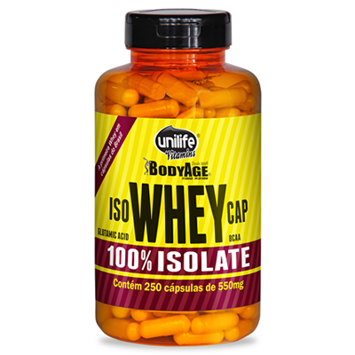 Iso Whey (Whey Protein) 250 cápsulas 550mg Unilife - comprar online
