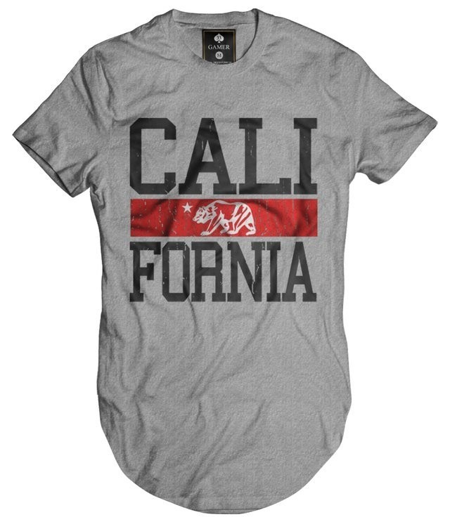 Camiseta Longline Oversized California Gamer 33 top