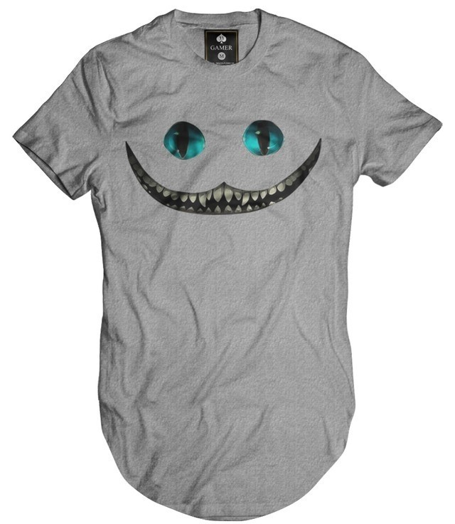 Camiseta Longline Oversized Cheshire Alice Gamer 33 - Loja HDR - Street Wear