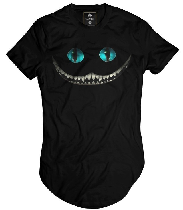 Camiseta Longline Oversized Cheshire Alice Gamer 33