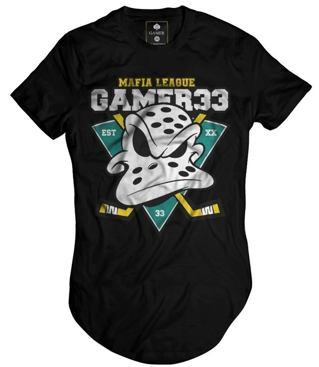 Camiseta Longline Oversized Patos Ducks Gamer 33 loja hdr