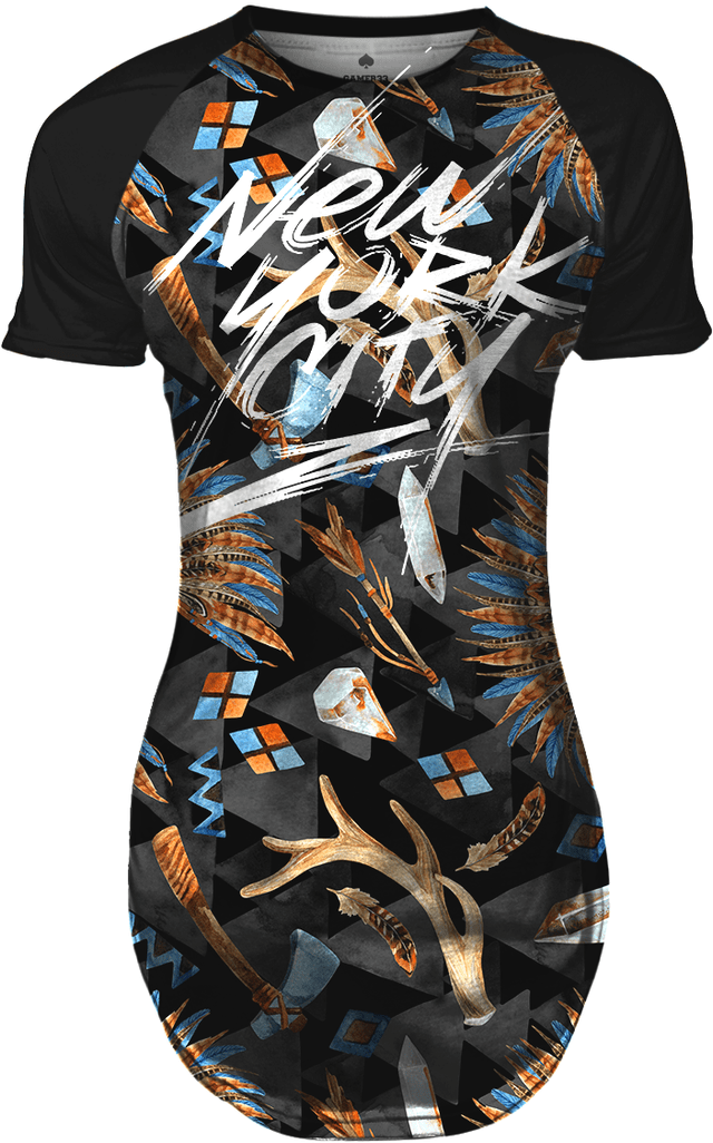Camiseta Longline Feminina Native Elements Swag Gamer 33