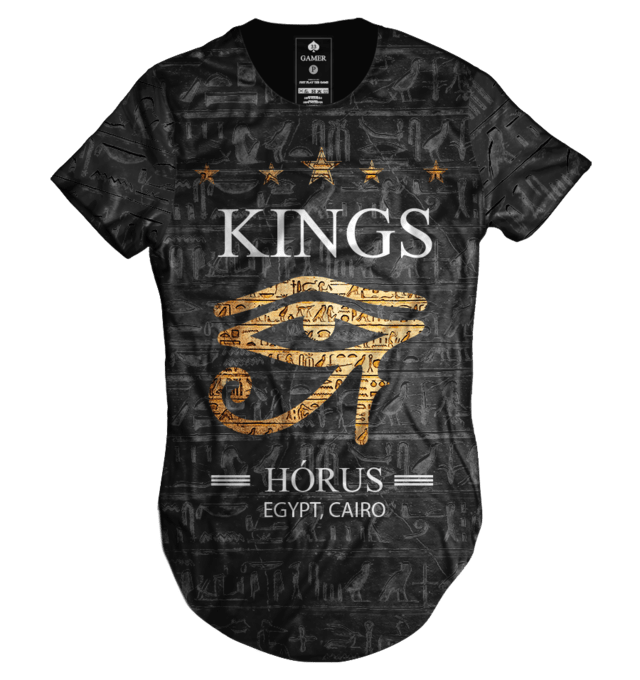 Camiseta long line oversized Horus Egito kings collection Gamer 33