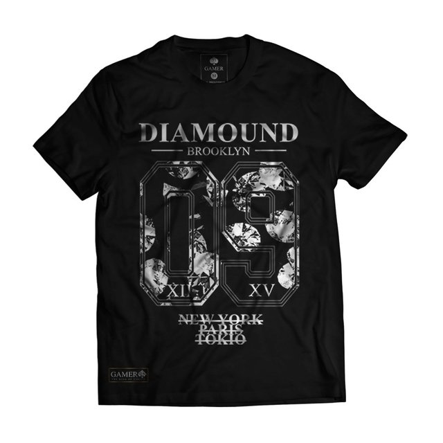 Camiseta Black diamound brooklyn new york Gamer 33
