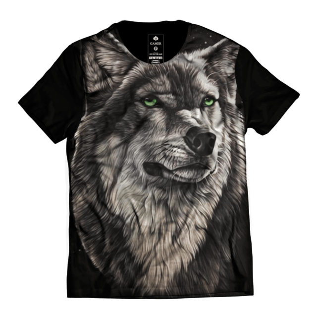 Camiseta Lonely Wolf Gamer 33 Streetwear