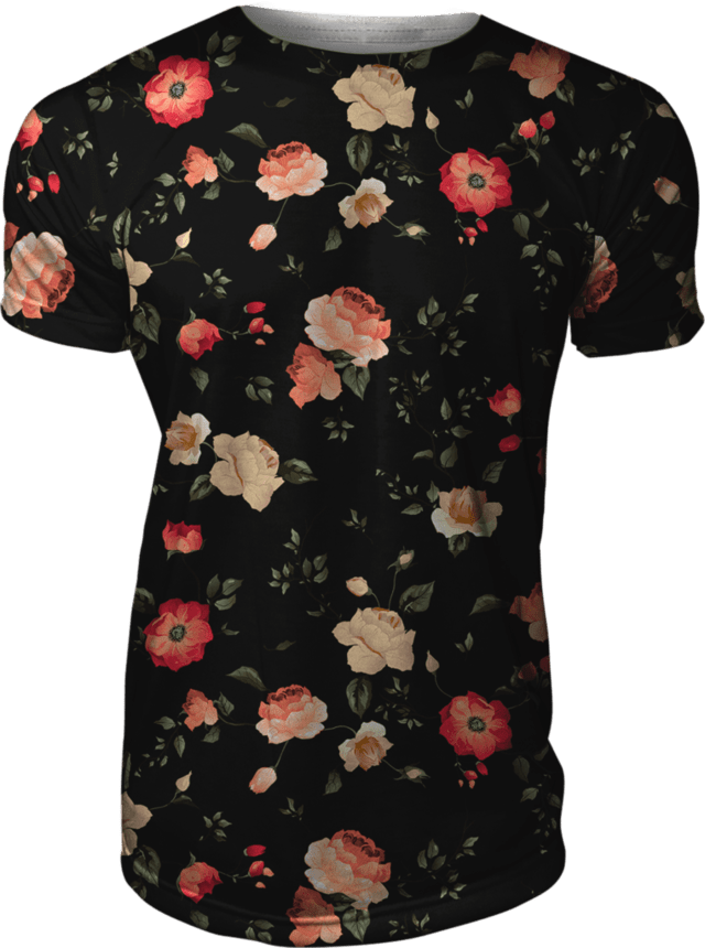 Camiseta Floral Estampada Rosas Spring Seasons Swag Gamer 33