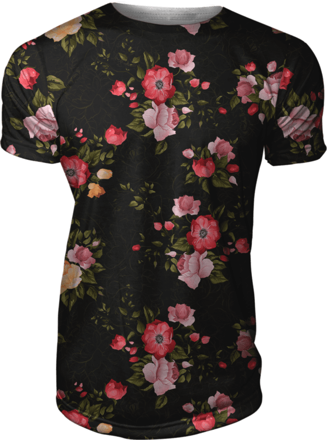 Camiseta Estampada Floral Roses Spring Nature Swag Gamer 33