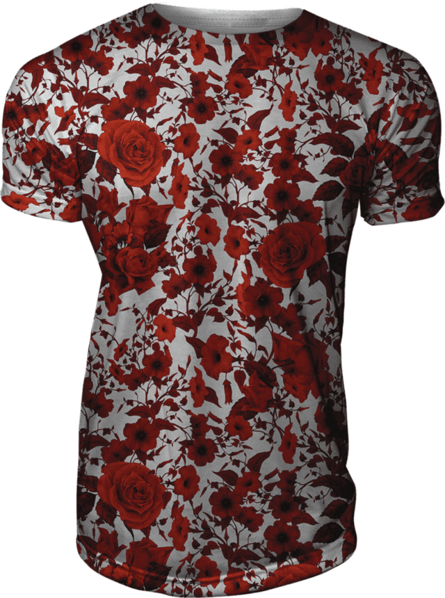 Camiseta Floral Estampada Rosas Vermelhas Nature Swag Gamer 33