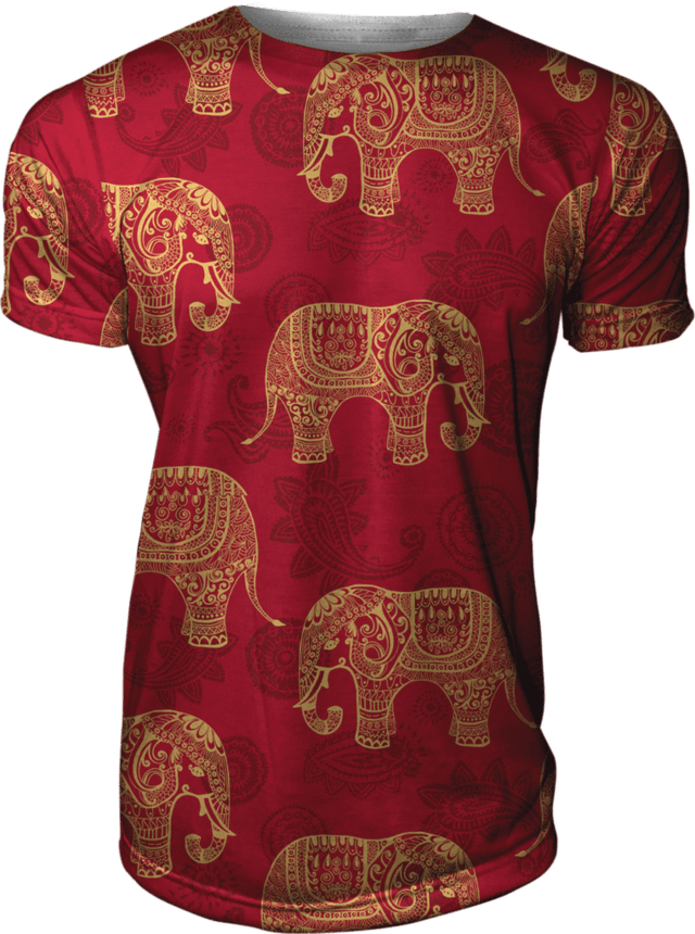 Camiseta Estampada Texture Hindu Elephants  Swag Gamer 33