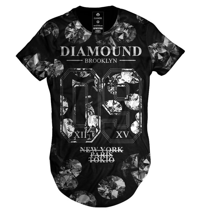 Camiseta long line oversized Diamound Brooklyn collection Gamer 33