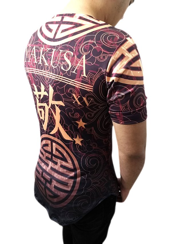 Camiseta Longline Masculina Kings of Tokio Yakusa Japonesa Gamer 33 na internet