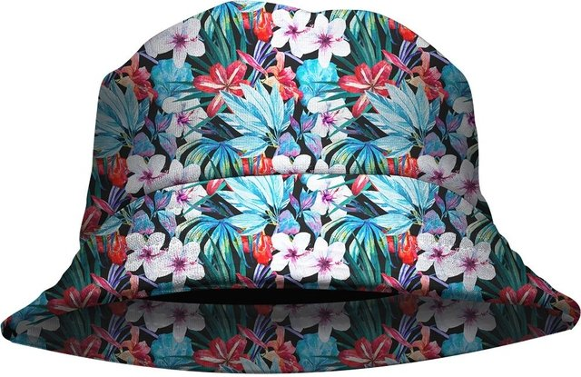 Chapeu Bucket Hat Blue Floral Outono Gamer 33 loja hdr