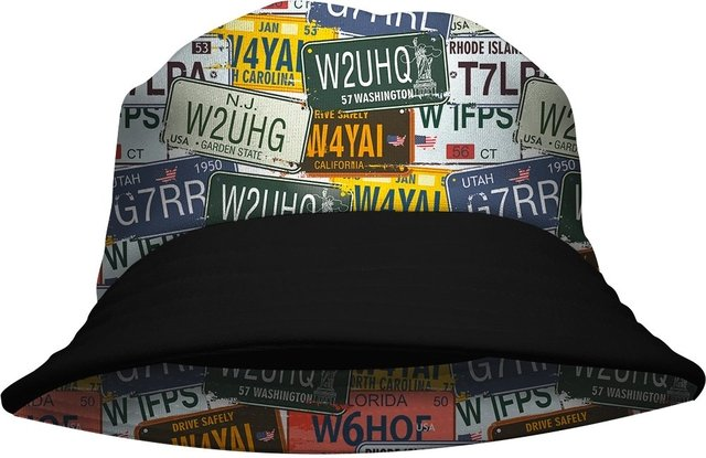 Chapeu Bucket Hat Placas USA Gamer 33 loja hdr