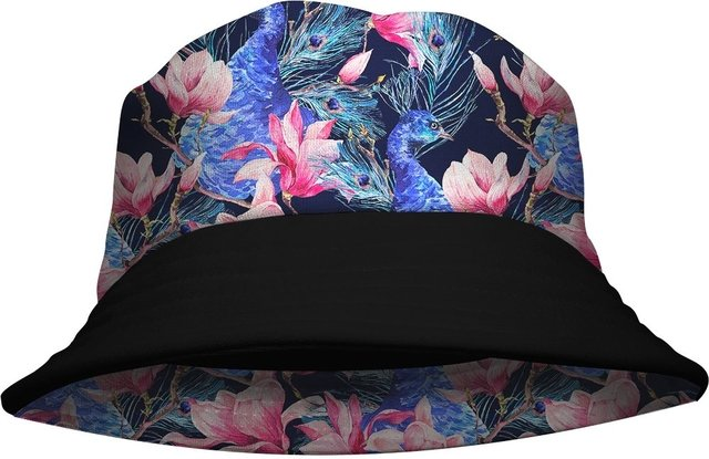 Chapeu Bucket Hat Aves e Flores Gamer 33