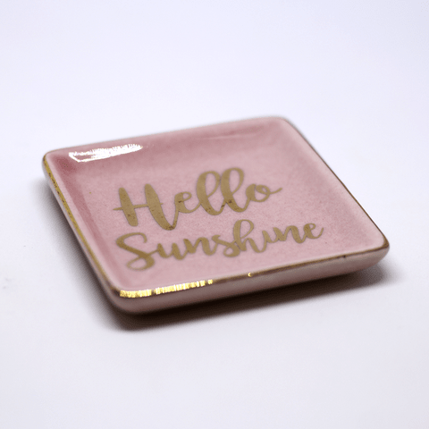 MINI PRATO DECORATIVO 'HELLO SUNSHINE' ROSA