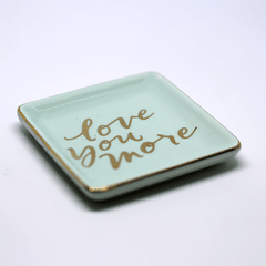 MINI PRATO DECORATIVO 'LOVE YOU MORE' VERDE na internet