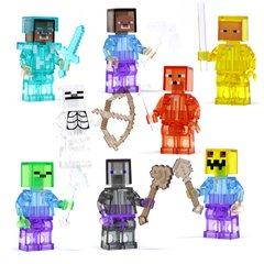 MINECRAFT - 8 PERSONAGENS (KIT 04 - TRANSPARENTE)