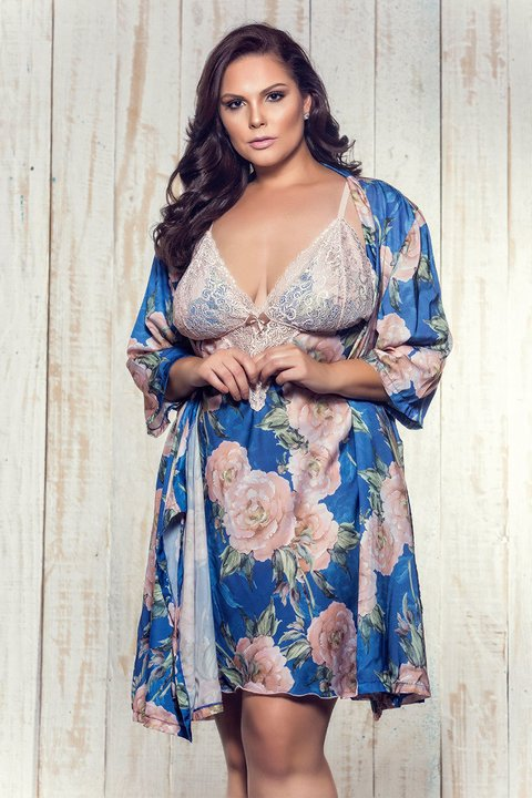 Robe Plus Jazz Floral Azul