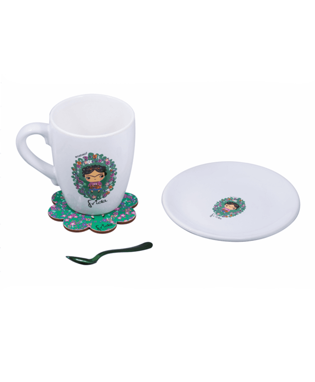 Set Taza Frida con plato