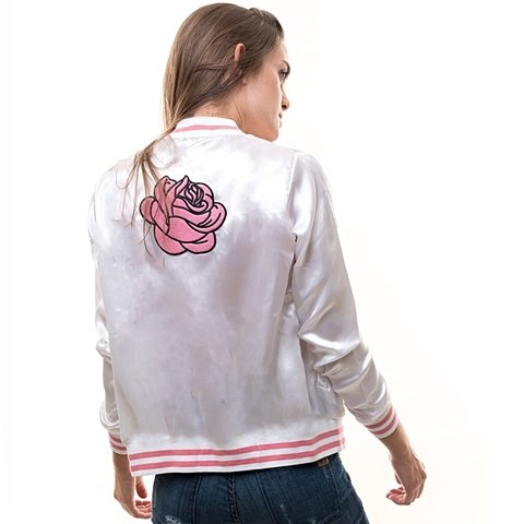 Campera Rosemary Larga (Blanca)