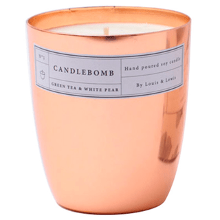 Vela Aromática CandleBomb (Cobre) - Green Tea & White Pear
