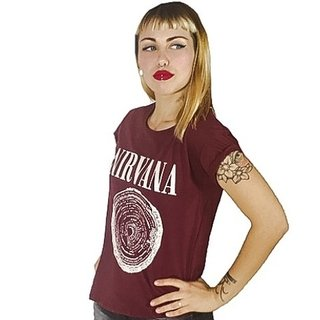 Remera Nirvana (Bordó)