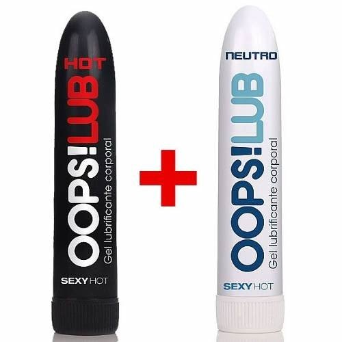 Oops! Lub Neutro + Hot Lubrificante Íntimo Anal Vaginal 50g