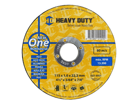 Disco de corte Heavy Duty - All In One - Multimaterial 115mm