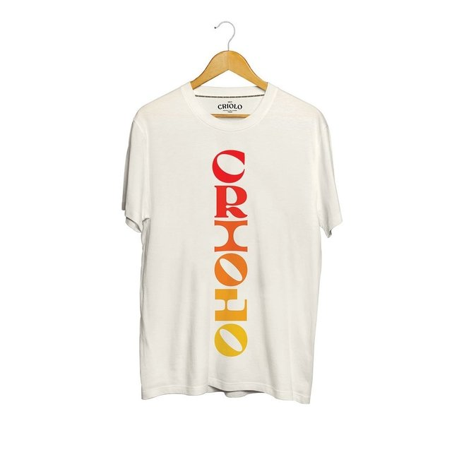 Camiseta Criolo Color Typer Crua