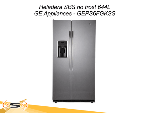Heladera SBS no frost 644L GE Appliances GEPS6FGKFSS