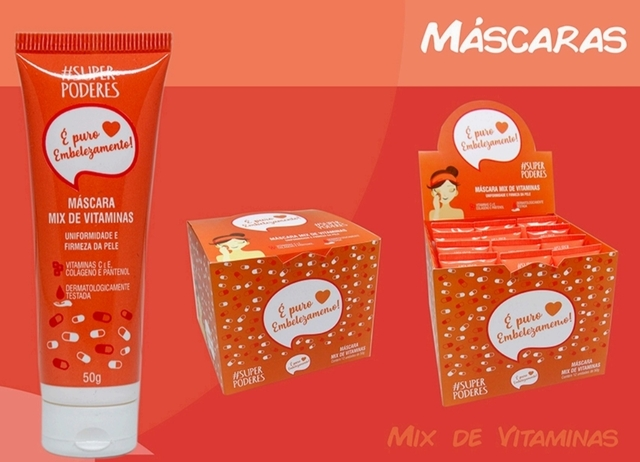 Kit de maquiagem box com 12 máscaras mix de vitaminas