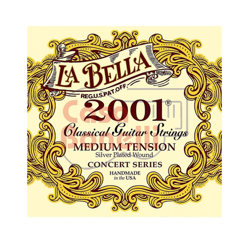 Encordado para Guitarra Clasica La Bella Medium Tension 2001ME