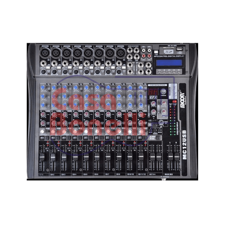 MIXER DE 12 CANALES CON USB MOON MC12USB
