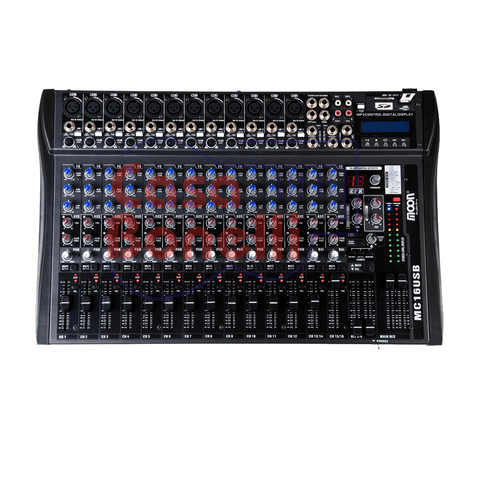 MIXER DE 16 CANALES CON USB MOON MC16USB