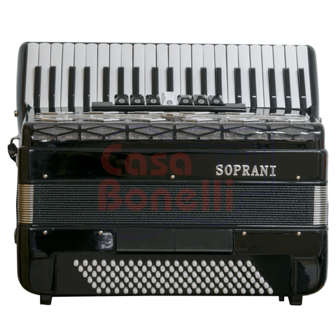 Acordeon a Piano Soprani 120 Bajos SP120-Black