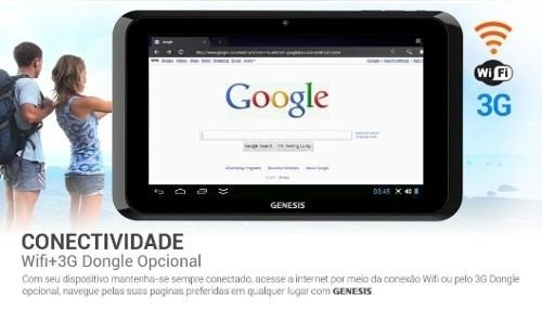 Tablet Genesis Gt 7301 Android 4.2 Dualcore Tv Capa Película na internet