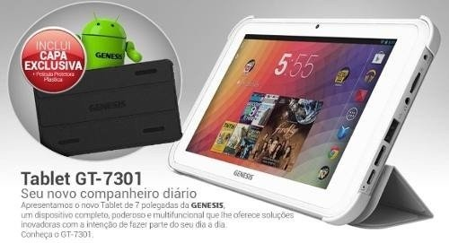 Tablet Genesis Gt 7301 Android 4.2 Dualcore Tv Capa Película - loja online
