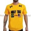 Camiseta UFC Muay Thai Coliseum Fight Team Amarela Masculina