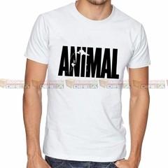 Camiseta Animal Musculação Branca