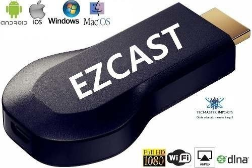 Dongle Ezcast Wifi Hdmi Airplay Smart Tv Multimídia Espelhamento - comprar online