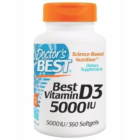 Doctors Best Vitamina D3 5000 Iu 360 Softgel Cápsulas