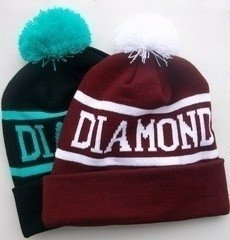 Touca Gorro Beanie Supply Diamond Pompom Skate Hip Hop