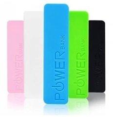 Carregador Universal USB Portátil Power Bank 2600 mAh com Lanterna de Led